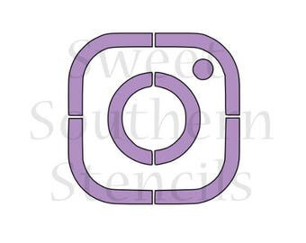 Social Media Picture Icon Cookie Stencil