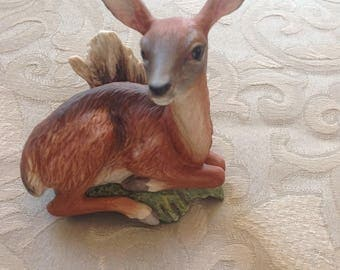 Boehm Friends of the Forest White Tailed Deer Figurine