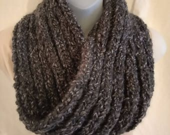 Charcoal mobius cowl