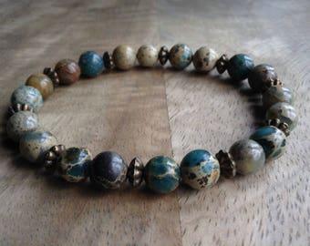 15cm wrist ,Bohemian bracelet boho chic bracelet yoga bracelet womens jewelry gift for her hippie bracelet beaded bracelet gemstone bracelet