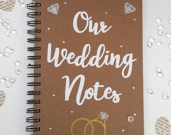Our Wedding notes A5 Lined Kraft decorated notebook