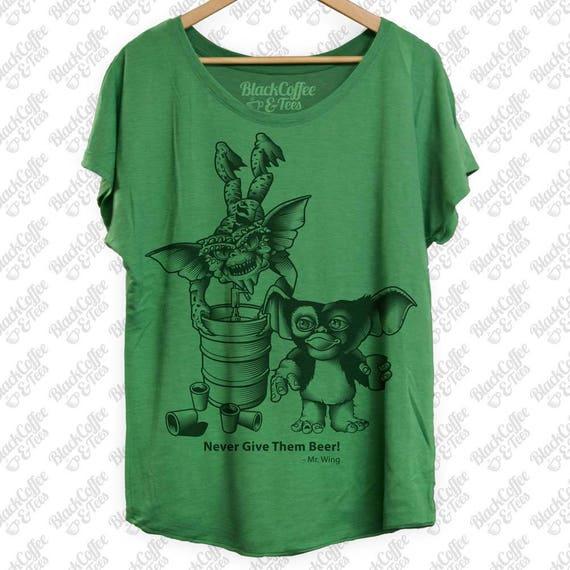 Gremlins Shirt -Perfect St Patricks Day Shirt- Gremlins Beer Shirt - Keg Stand - Womens St Pattys Day Shirt - Womens Craft Beer Green Dolman