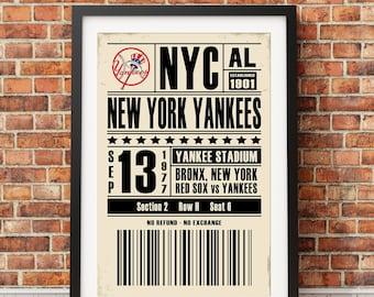 New York Yankees Ticket Print