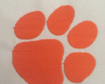 Two different designs filled and applique, Paw Embroidery Design,Applique and filled Paw print,Embroidery Designs