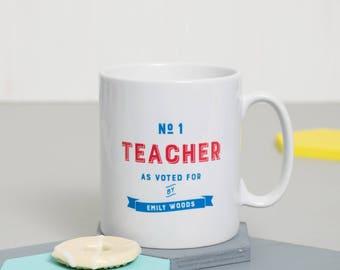 Gift For Teacher   Present For Teacher   Mug For Teacher   Personalised Favourite Teacher Mug