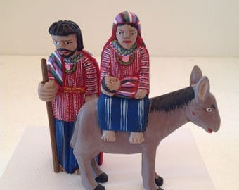 Carved Guatemalan Flight to Egypt