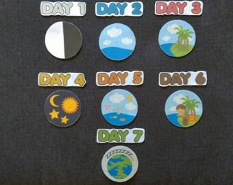 The 7 Days of Creation Felt Board Set// Flannel Board Story Set  // Preschool  // Sunday School //