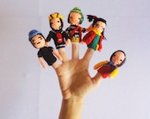 finger puppets/ travel sensory toy / focus toy/ toddler learning/ quiet toys for kids / Toy for motor/ DIY amigurumi / el chavo del ocho