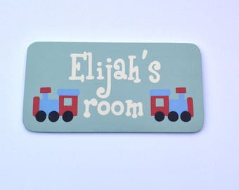 Boys personalised door sign, bedroom door sign, name sign, custom door sign, bedroom door plaque, childrens door sign