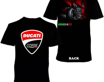 Ducati Corse Diavel Bikes Superbike Men's Printed T-shirt