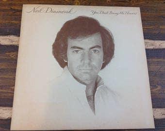 Neil Diamond You Don't Bring Me Flowers Vintage Vinyl Record LP 1978