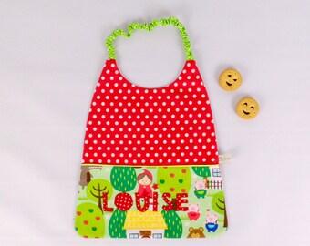 Serviette cantine bavoir elastique personnalisable prénom couleurs et motifs serviette de table enfant école maternelle cadeau Noël enfant