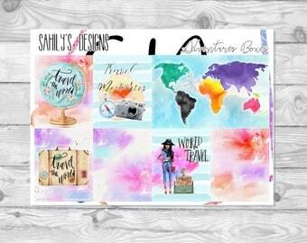 ADVENTURES // Erin Condren // The Happy Planner // Sticker Kit // Spring Stickers