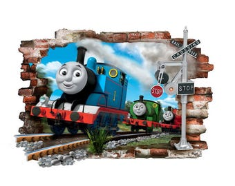 Thomas The Tank Engine & Friends wall stickers 3D vinyl decor art decal mural 57cm X 80cm
