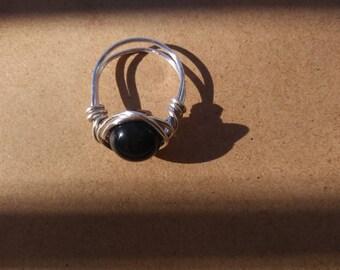 Blue tiger eye ring