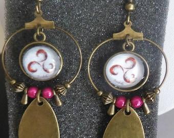 Bronze Celtic earrings