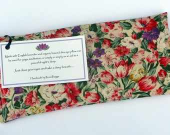 Organic Flaxseed and Lavender Soothing Eye Pillow/Meditation/Relaxation/Yoga/Savasana/Wellbeing/Yoga Meditation/Gift Wrapped