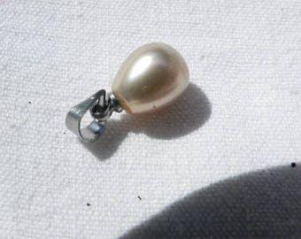 beautiful cultured pearl rose pendant 8-9 mm