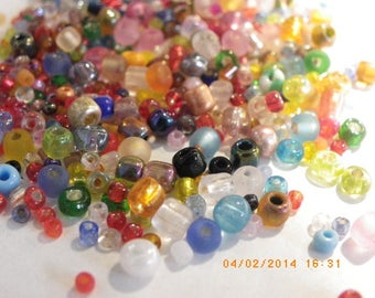 300 seed beads 2 mm 3 mm 4 mm multicolor tube mix