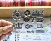 Backyard Shenanigans 3X4 Photopolymer stamp set/Planner Accessories: Erin Condren, Filofax, planners