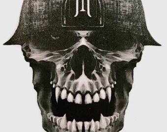 Skull stickers.