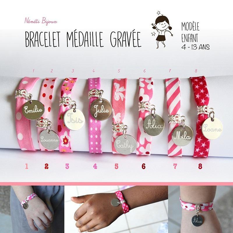 Bracelet Liberty enfant fille 3 - 10 ans - gravé personnalisé ...