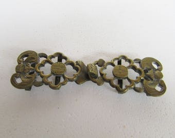 Vintage Brass Buckle 2 Piece Asian Style