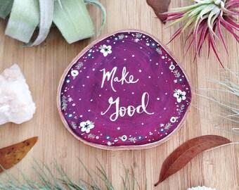 Mini Wood Slice Art, Inspirational, Boho Home Decor, Hand painted Art, Boho, Home Decor, Nursery Art