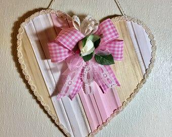 Valentine Door Hanger, Shabby Door Hanger, Romantic Door Hanger