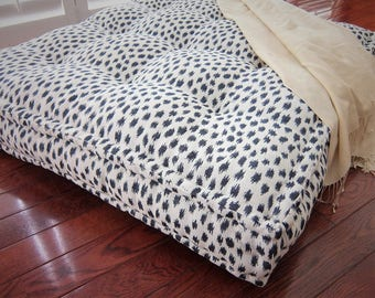 oversized floor cushion with french mattress quilting large floor pillow stuffed 36x36x6 floor pouf