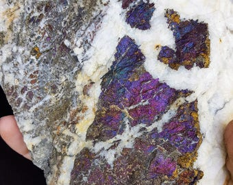 Colorful Chalcopyrite in Matrix - Mitterberg District Salzburg, Austria
