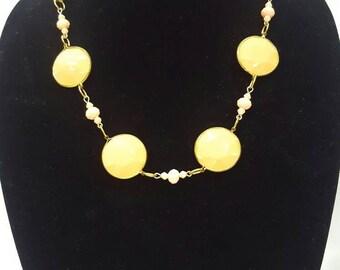 Peach Beaded Necklace