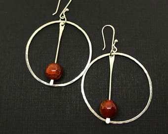 Hoops with Fire Agate