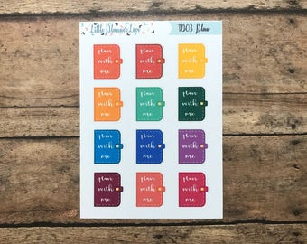 Plan With Me Planner Sticker for all Planners