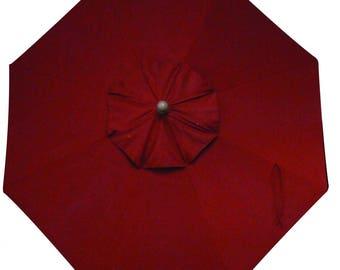 9 Foot Tilt and Crank LIGHT UP Octagon O'Bravia Umbrella in Bar Height - Model# HWSL9M - Free Shipping - Auburn Red