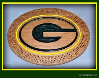 Green Bay Packers Cribbage Board