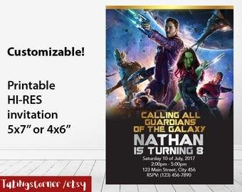 Guardians Of The Galaxy - Guardians Of The Galaxy invitation - Guardians Of The Galaxy Birthday - Guardians Of The Galaxy invite - printable
