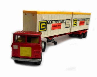1970s Vintage Matchbox Super Kings K17-23 Tractor with K-17 Trailer Toy Collectible Made in England