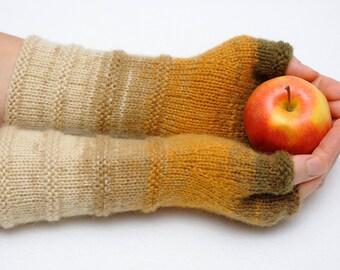 Knit Gloves Arm Warmers Knit Fingerless Mittens Girlfriend Gift for Her Winter Gloves Best friend Gift for women Xmas gift Christmas gift