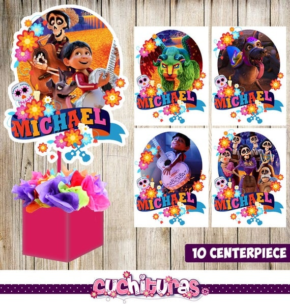 Disney Pixar Coco Cake Toppers Coco Cupcake Toppers Happy