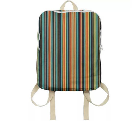 Unisex Stripe Casual Backpack