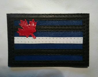 Canadian Leather Pride Flag Leather Vest Patch