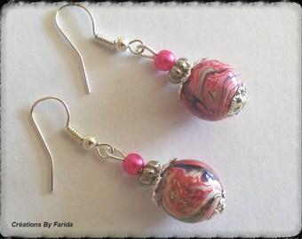 Earrings Pearl Pink wave effects