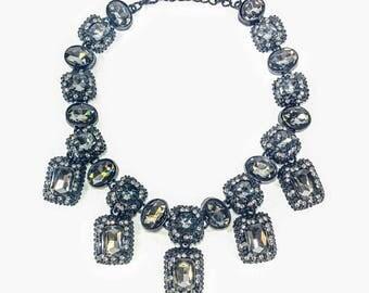 Hollywood Legend - Grey & Black Statement Necklace