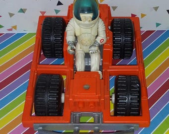 Vintage 1980 Fisher Price Adventure People Space Buggy and Astronaut