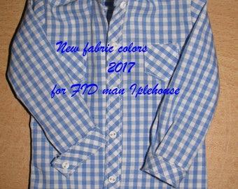 "BJD Clothes msd  Short sleeve or long shirt ""Vichy"" for  FID"