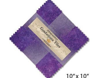 "Northcott Gradations Tiles - 42-10"" squares - Amethyst fabric"
