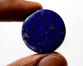 Lapis Lazuli 34 Cts Natural Gemstone Cabochon  Superb Round Shape Loose Cabochon 24x24x5 MM R13531