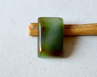 Chrysoprase 19 Cts Natural Beautiful Green Gemstone Rectangle Shape Loose Cabochon 21x13x6 MM R14256