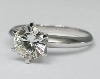 Novo Solitaire Forever Brilliant Moissanite Engagement Ring